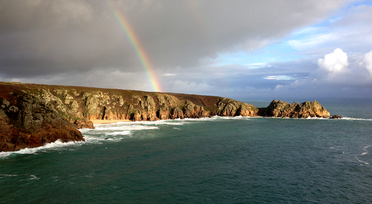 Porthcurnow-Logans Rock-Cornwall-Rainbow