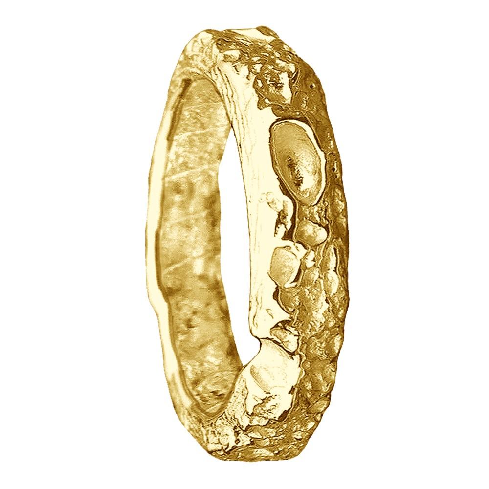 Bespoke Cornish Beach Sand Textured Handmade 14 Yellow Gold Wedding Ring
