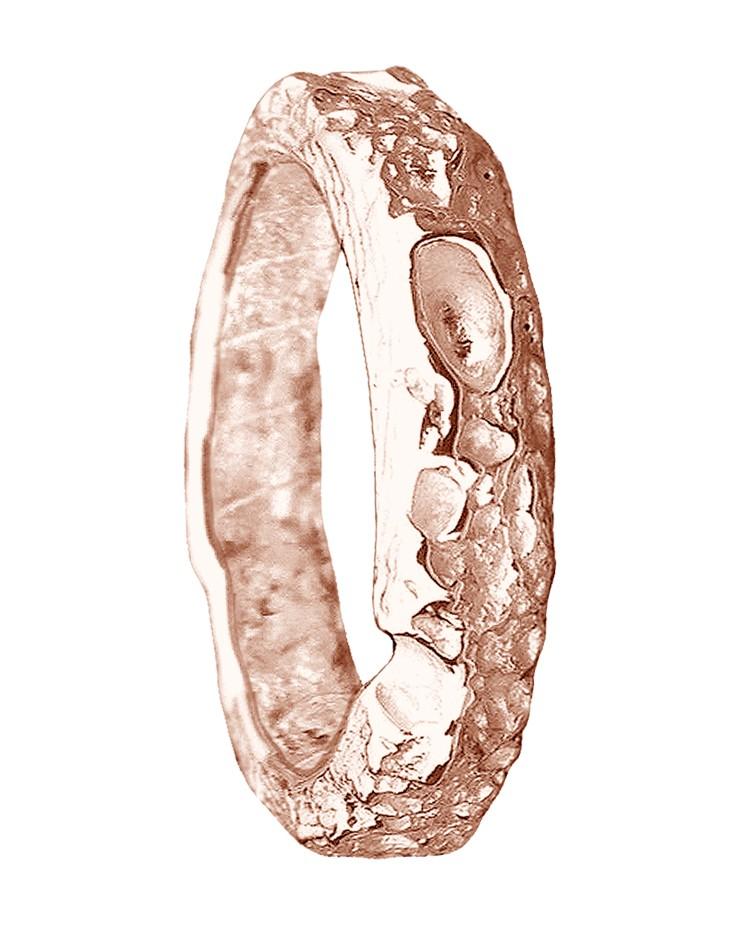 9ct Rose Gold Bespoke Wedding Ring Cornish Beach Sand Textured
