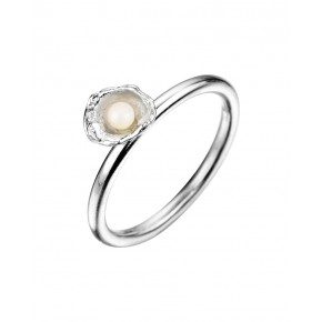 Seawater Cast Small Cup Handmade Pearl Ring