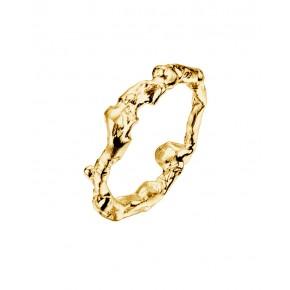 Seawater Cast Driftwood 9ct Yellow Gold Handmade Cornish Ring