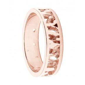 Cornish Seawater Textured Nautical 18ct Rose Gold Handmade Wedding Ring