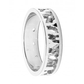 Cornish Seawater Textured Nautical 18ct White Gold Handmade Wedding Ring